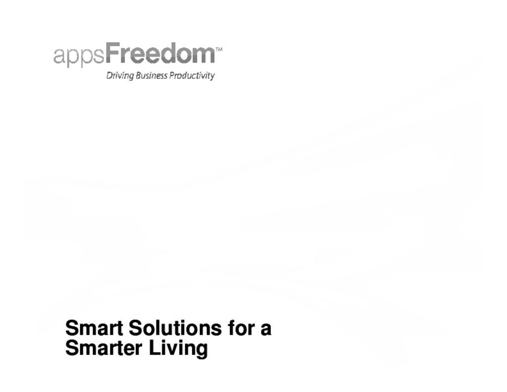 Smart Cities - appsFreedom
