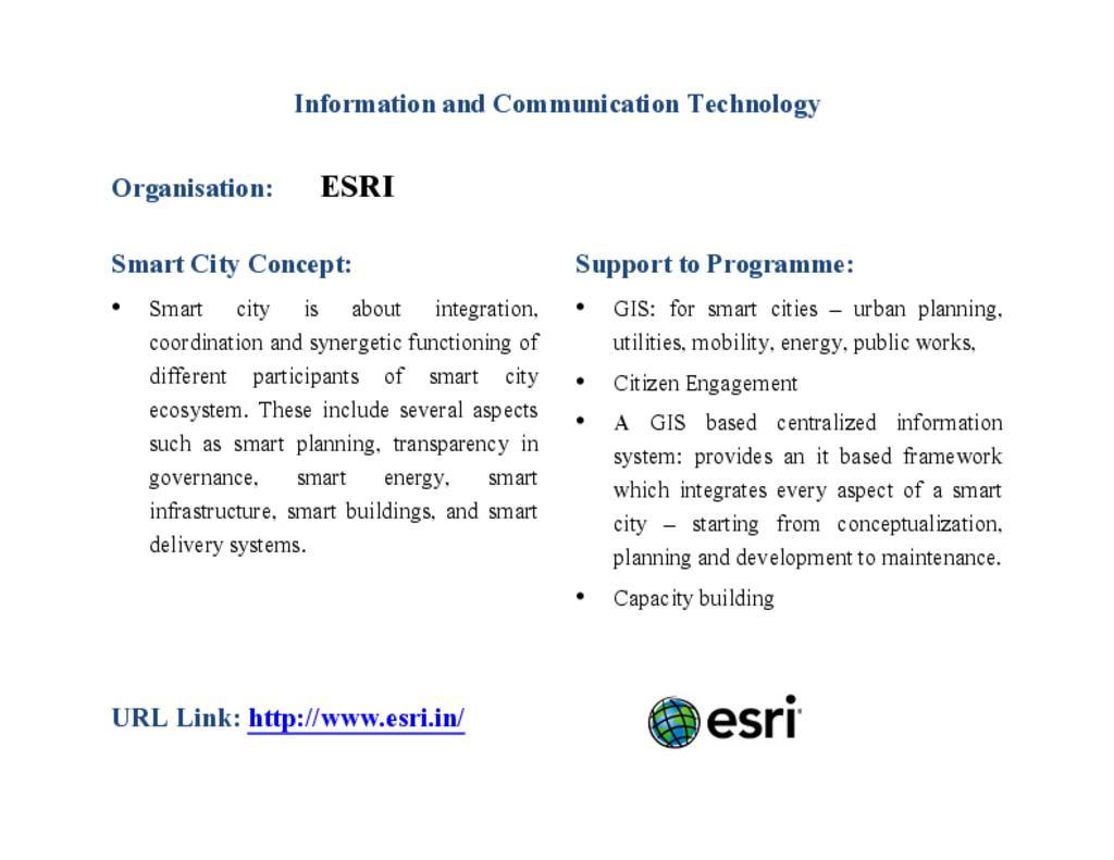 Environmental Systems Research Institute(ESRI)