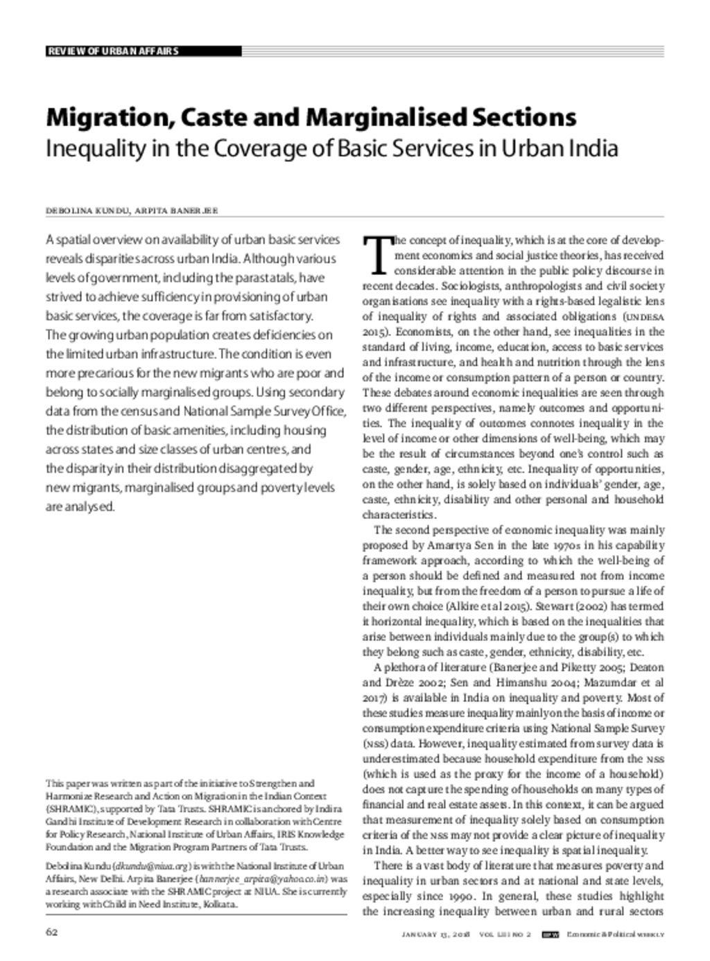 Urban Services