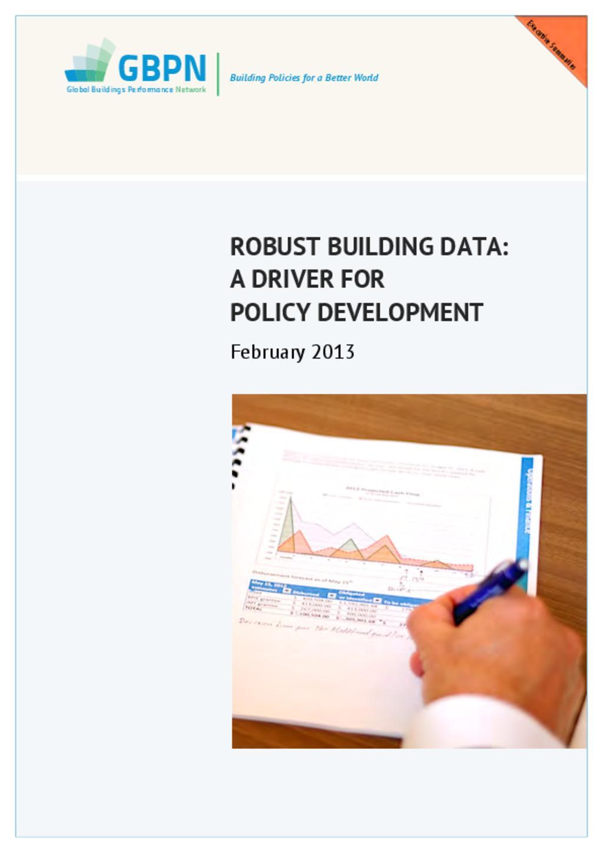 Data for Energy in Buildings