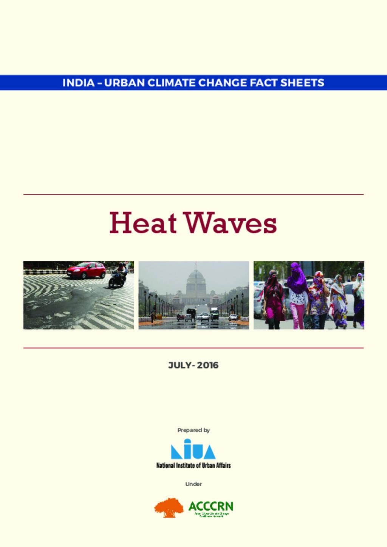 Heat Waves Fact sheet