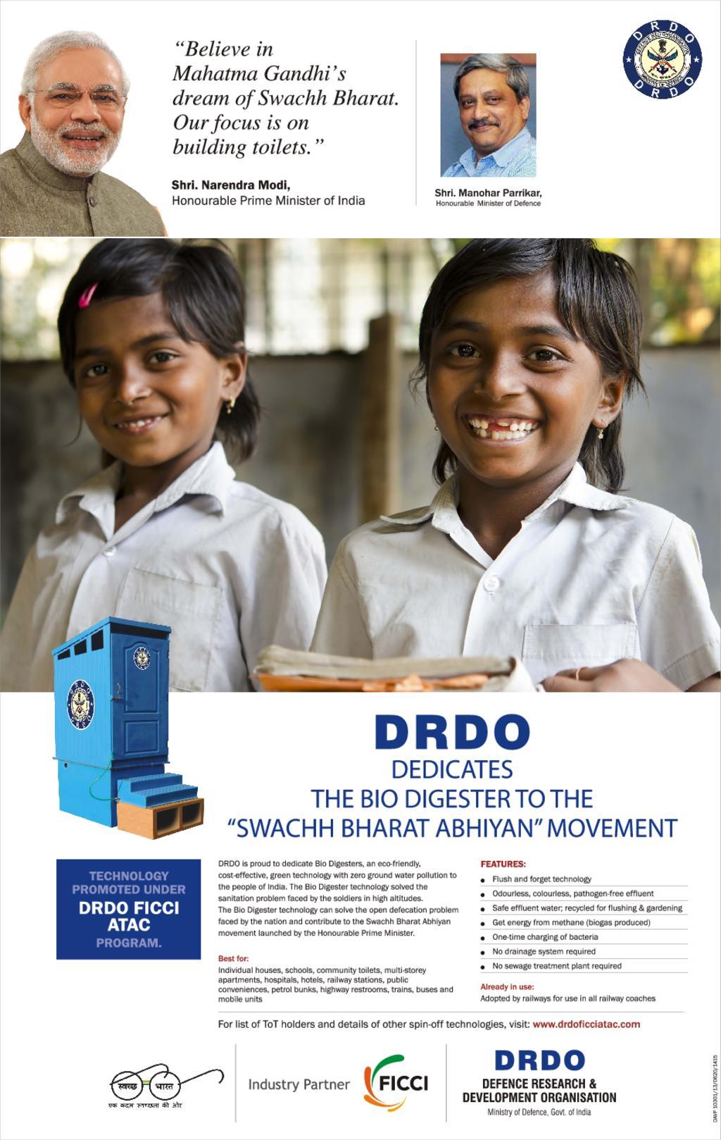 DRDO - Biodigester Brochure