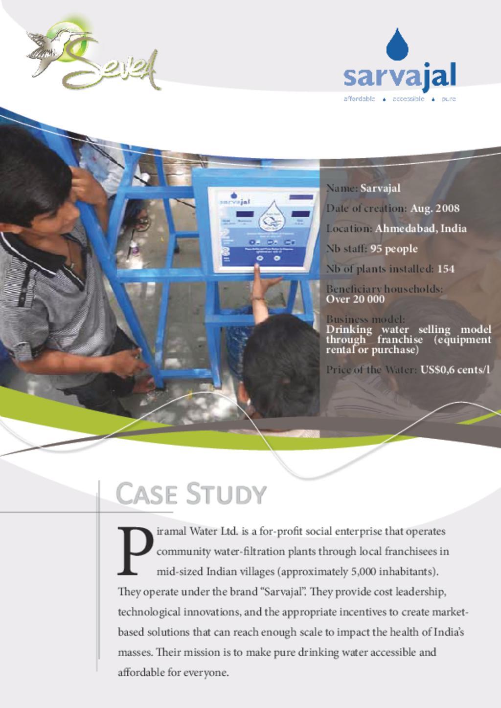 Sarvajal case study