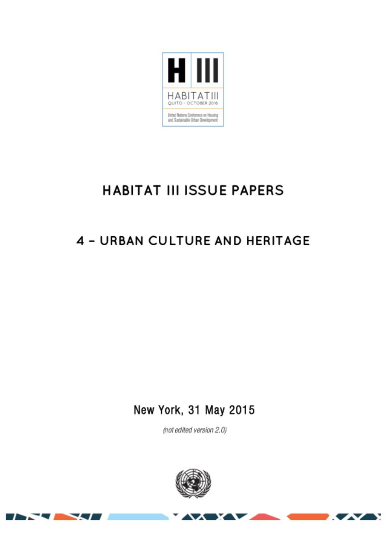 Urban Culture Habitat 3