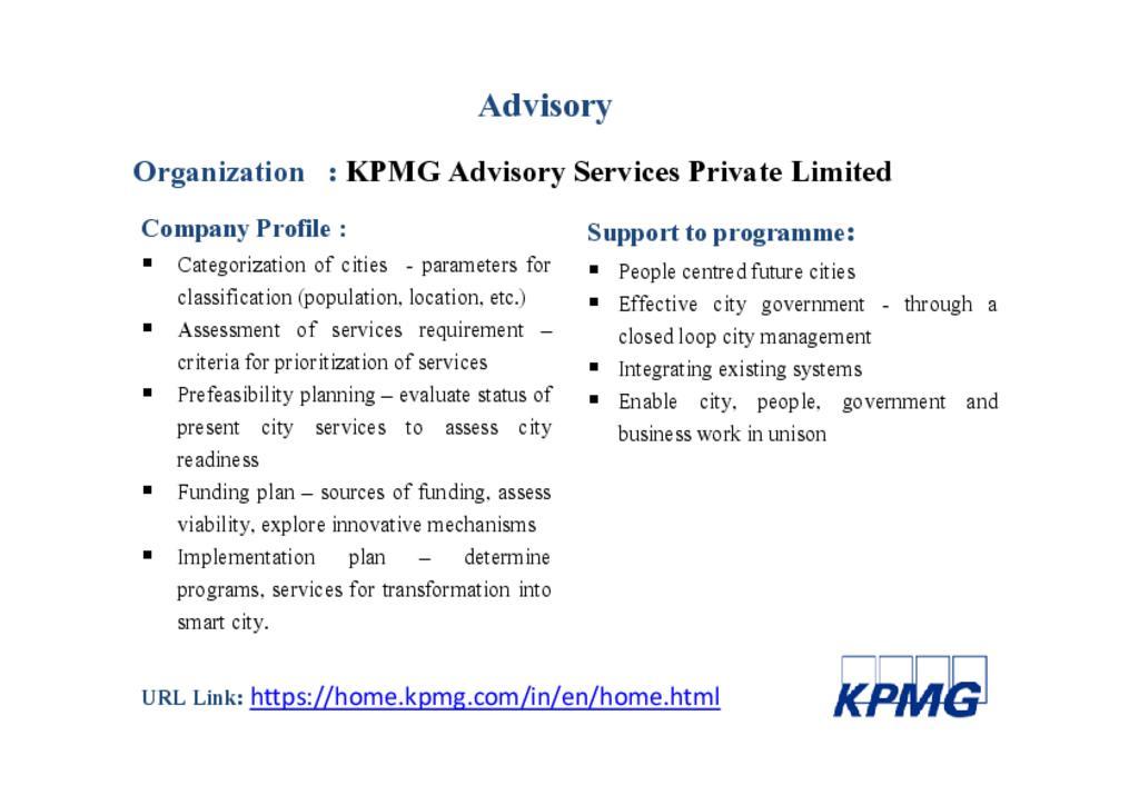 KPMG Advisory Services Pvt. Ltd.