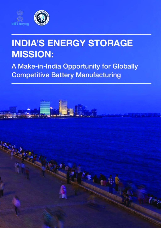 India Energy Storage