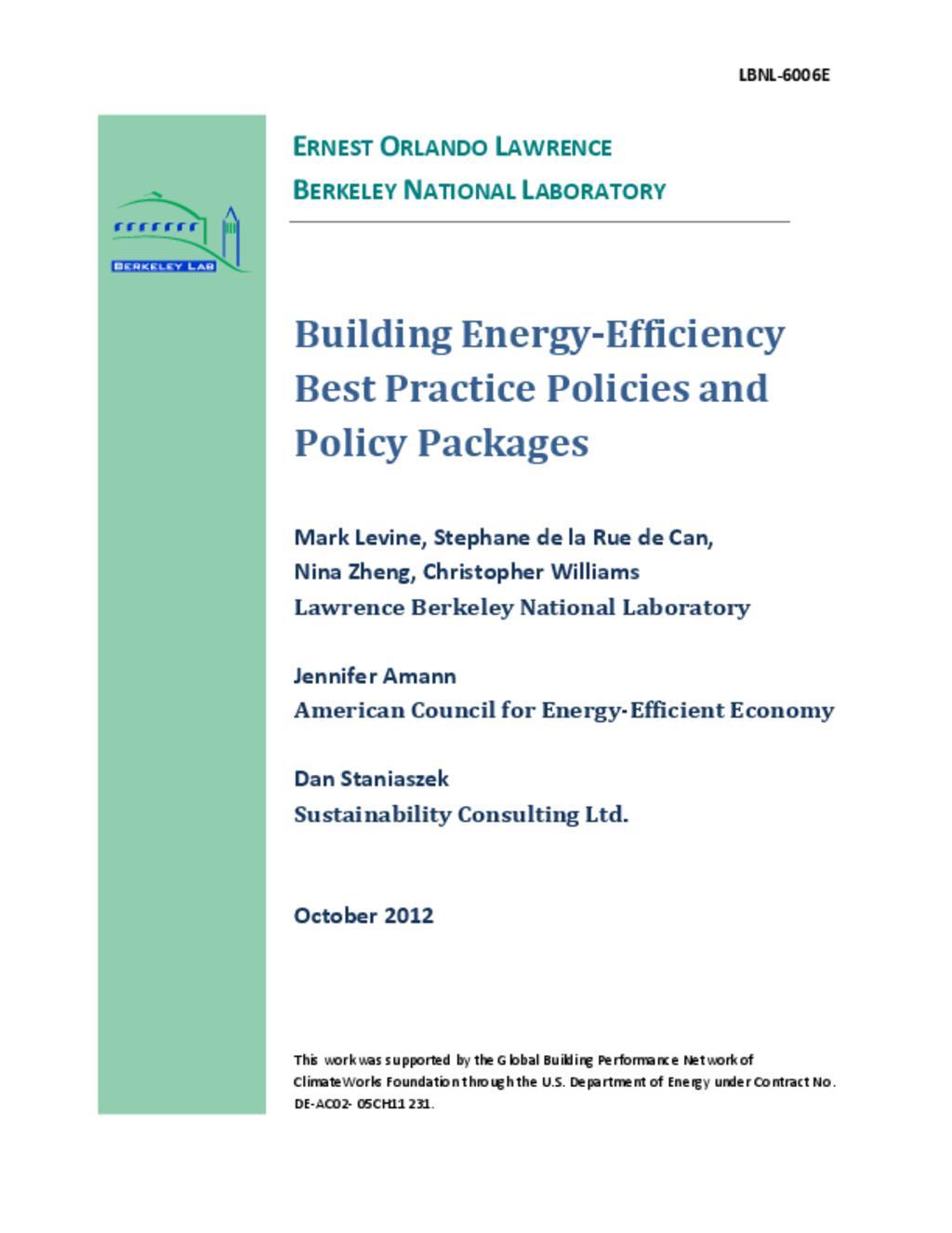 Energy Efficiency in Building Comparison