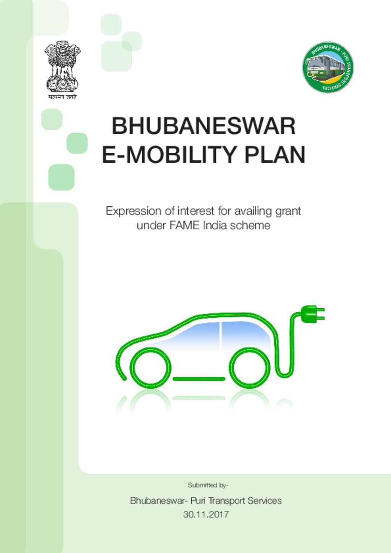 Bhubaneswar E-Mobility Plan