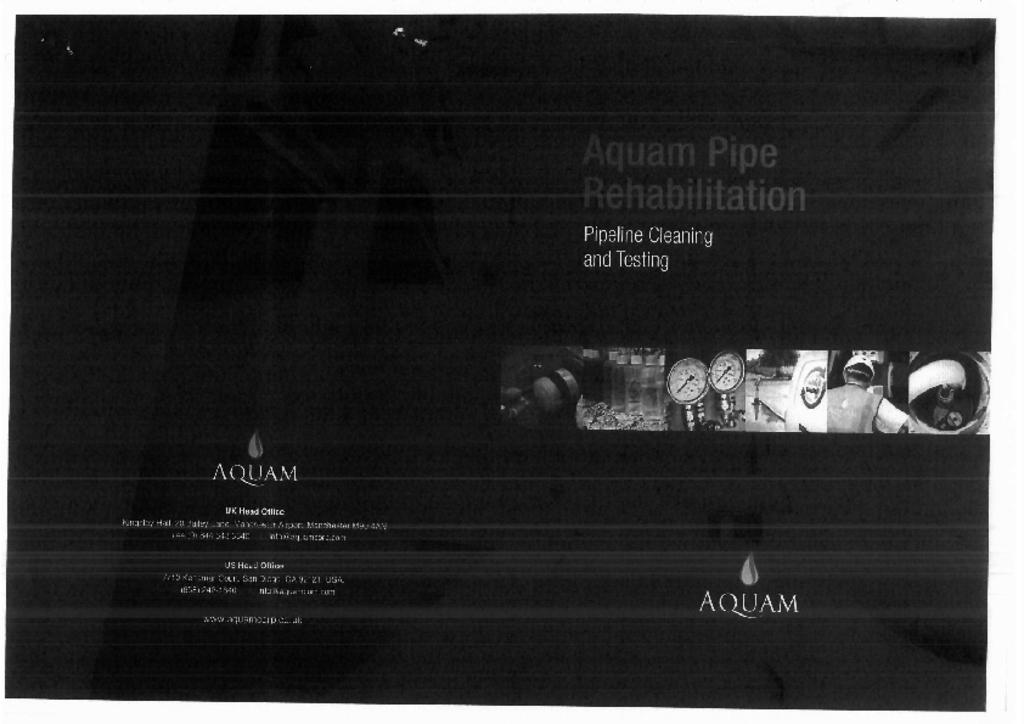 Aquam pipeline and testing