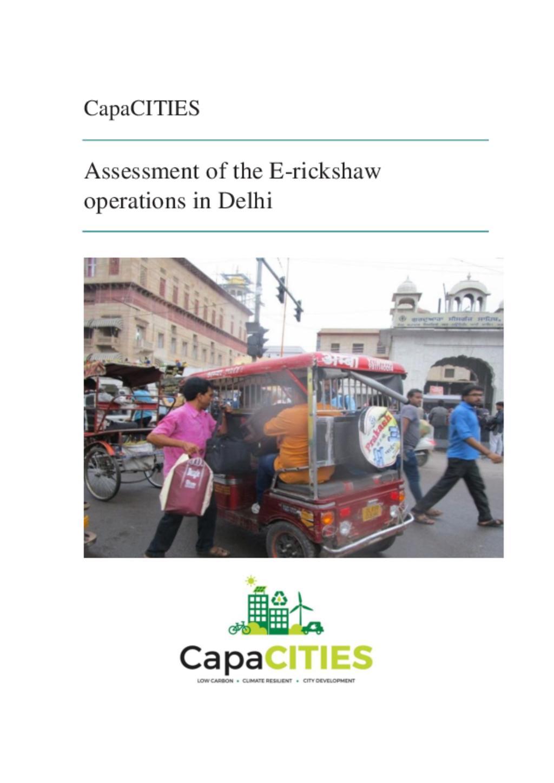 E-rickshaw Delhi