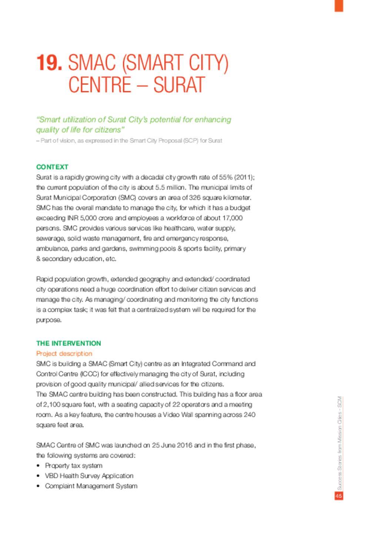 SMAC (Smart City) Centre – Surat