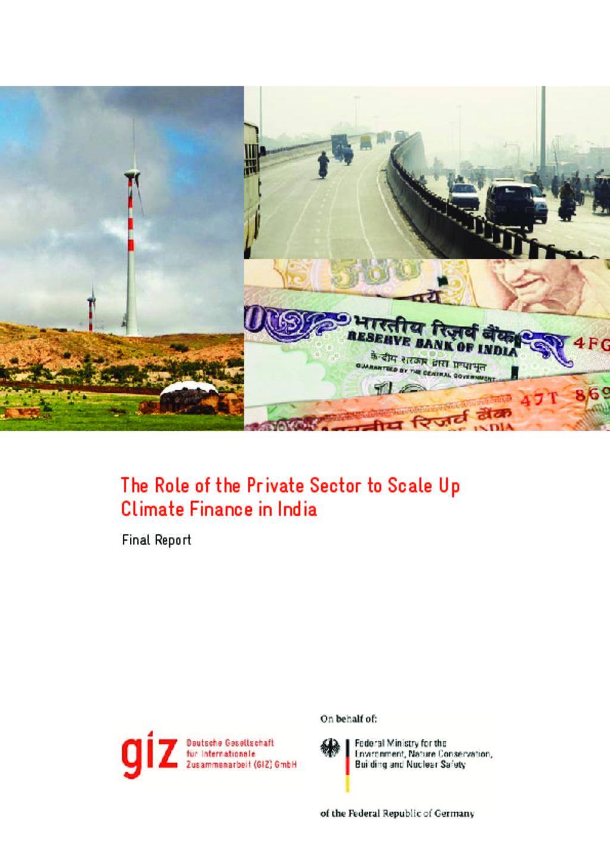 GIZ Climate Finance India