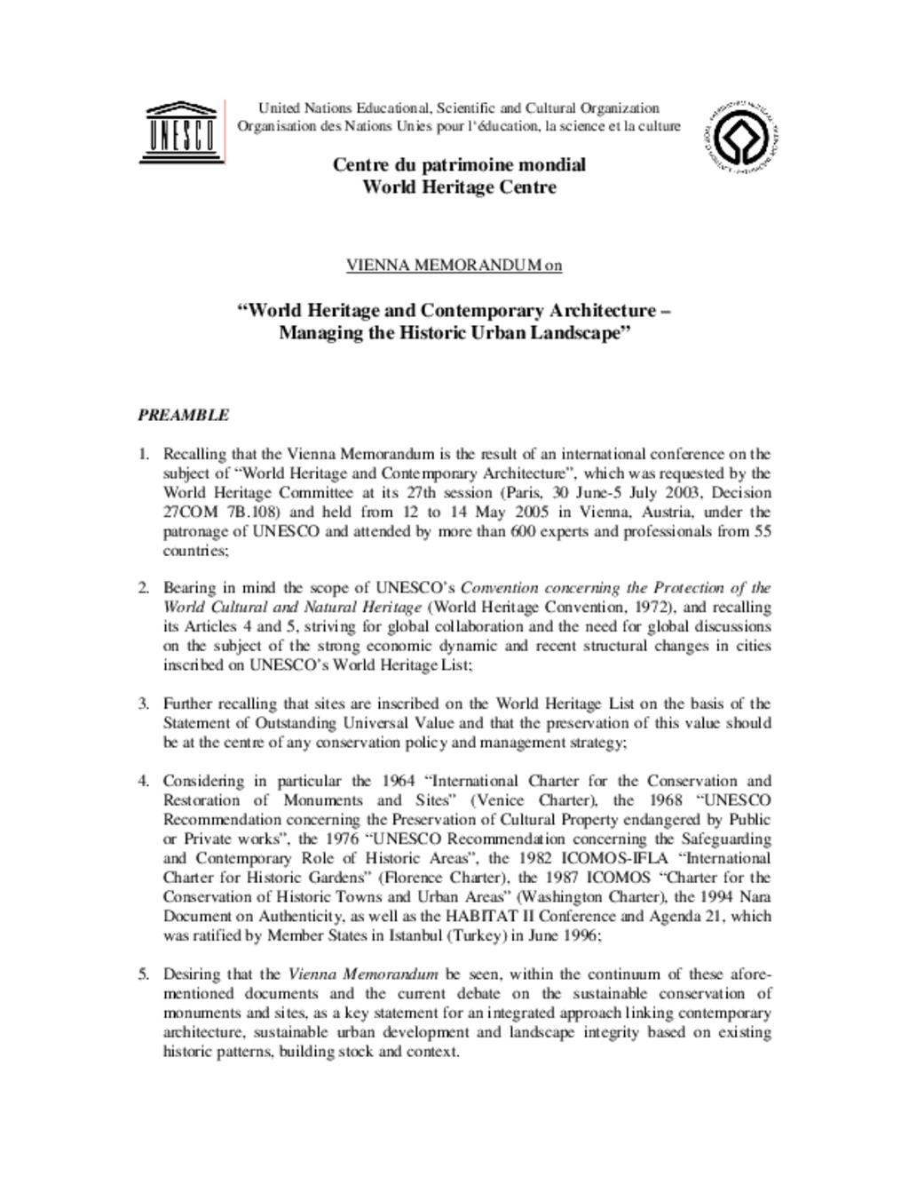 Vienna Memorandum