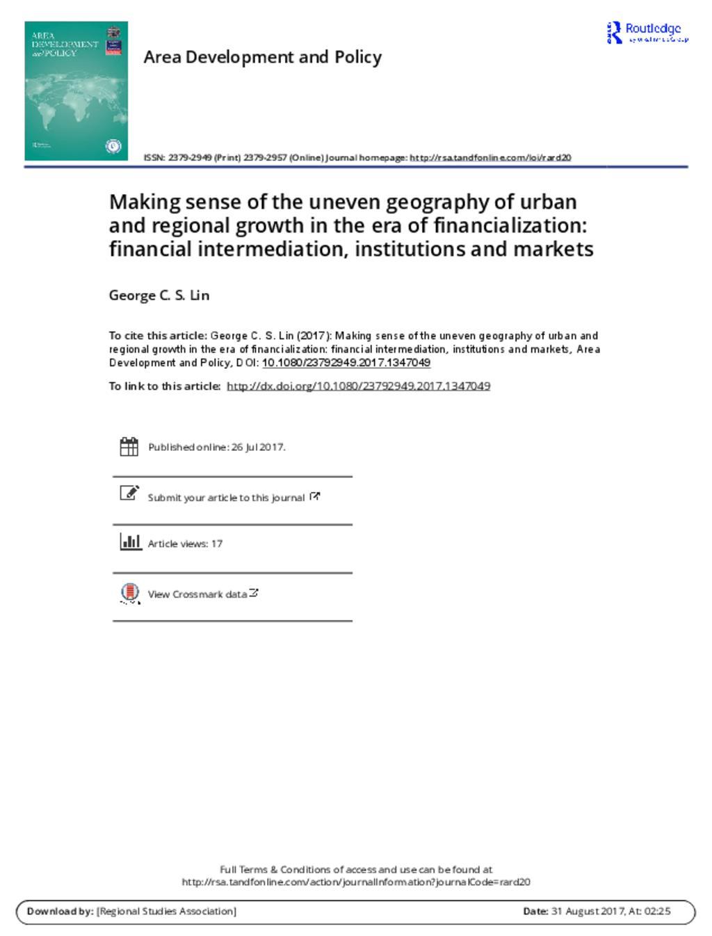 Financing Urban