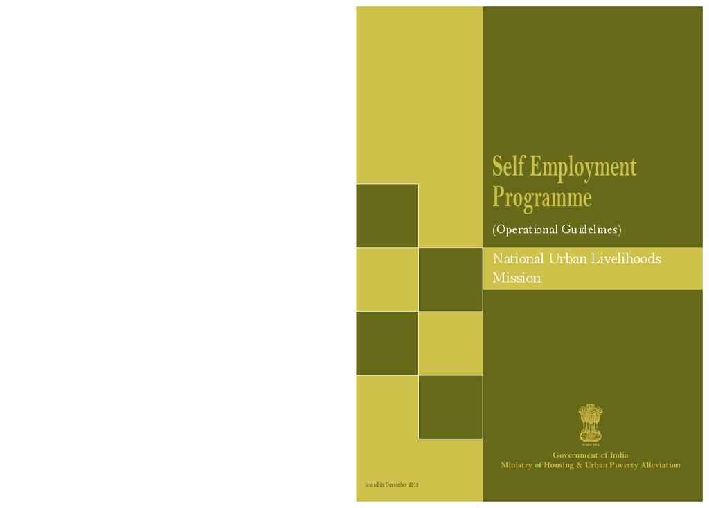 NULM : Self Employment