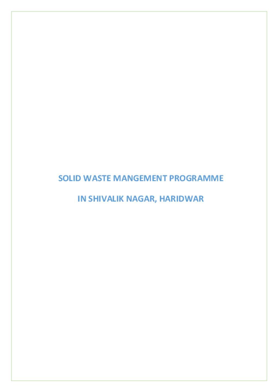 Shivalik Nagar Case Study