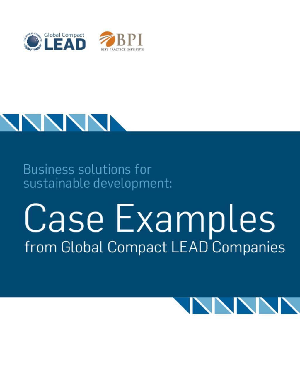 Sustainable Development Case Studies