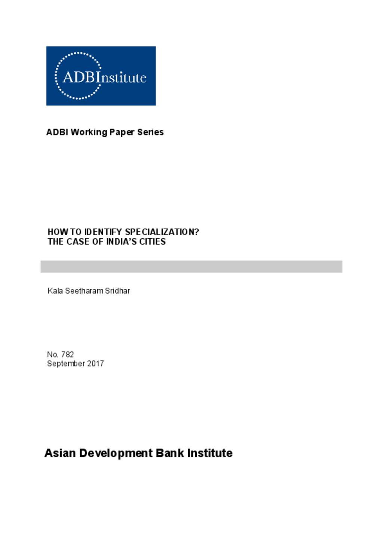 ADB working paper