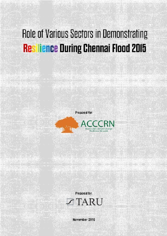 Chennai Floods Case Study