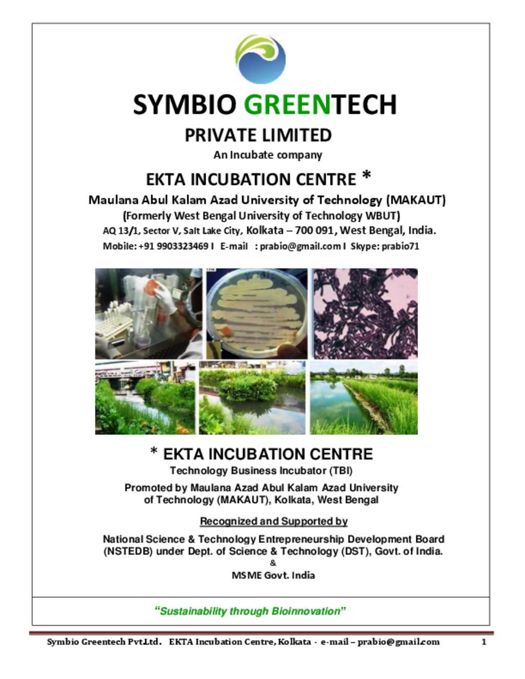 SYMBIO GREENTECH e-brochure