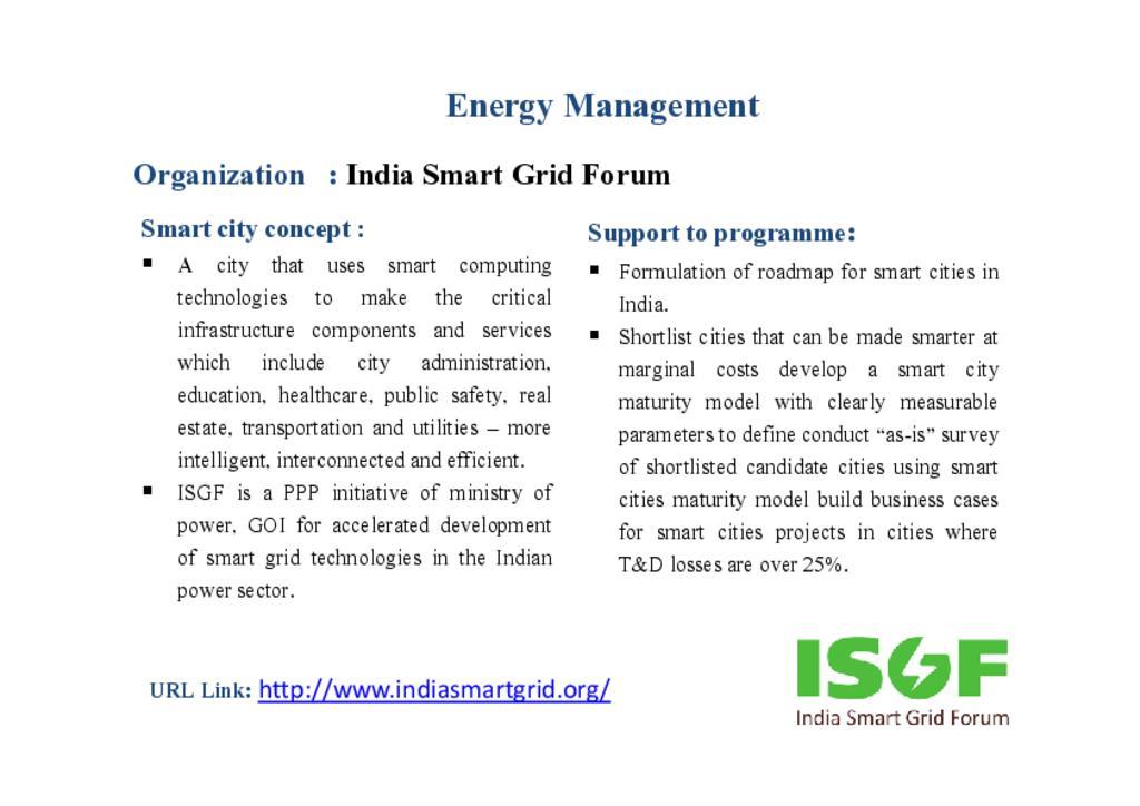 India Smart Grid Forum