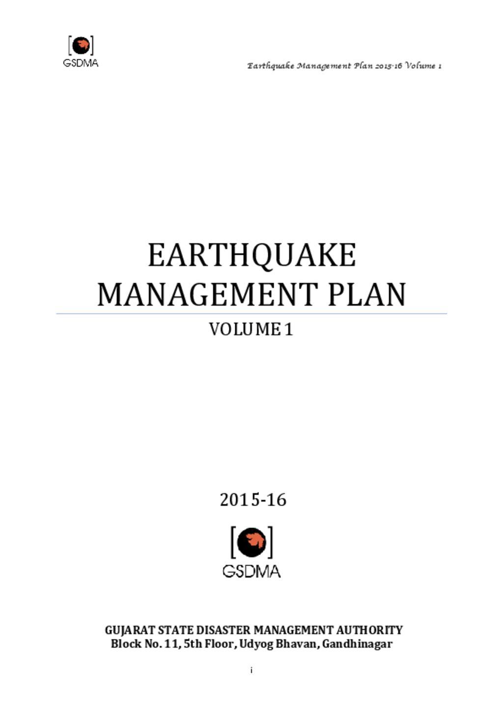 Gujarat _ earthquake action Plan1