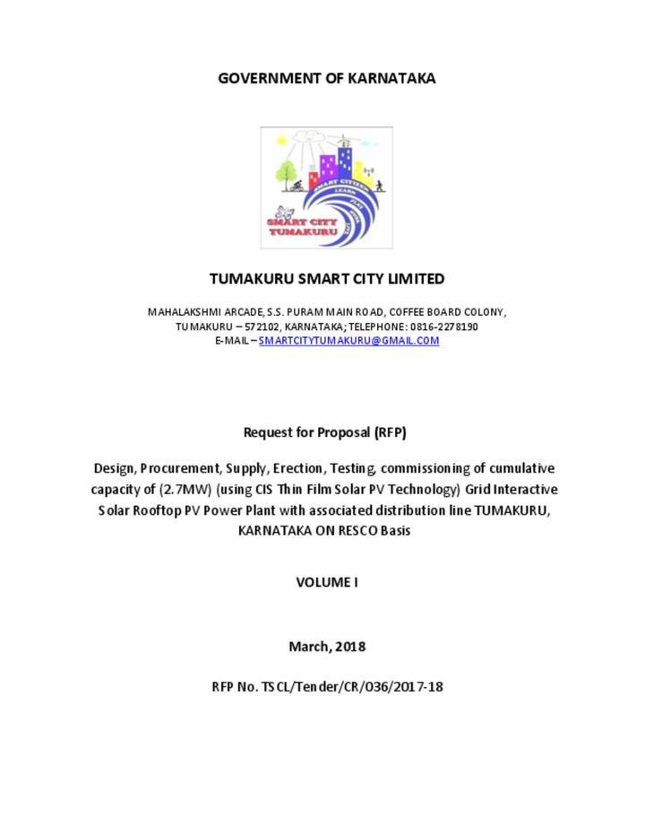 Request for Proposal (RFP) Design, Procurement, Supply