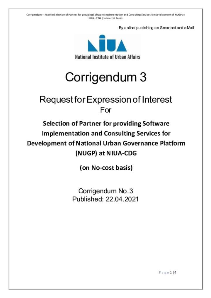 Corrigendum - 3