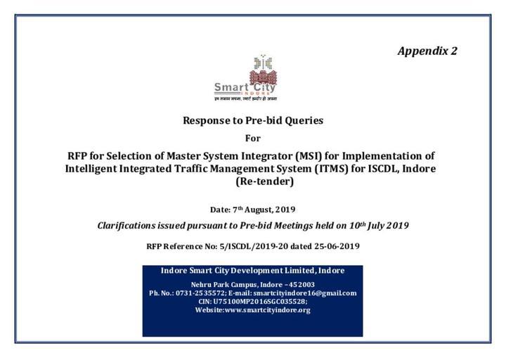 Response to pre-bid queries annexure 1