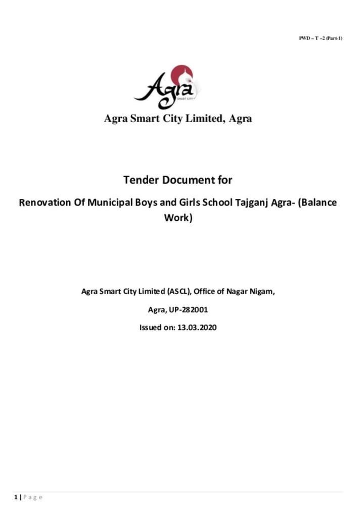 Tender invitation Document