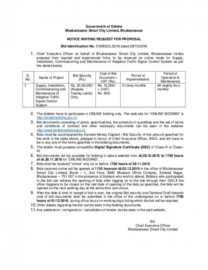 E-Procurement Notice for RFP