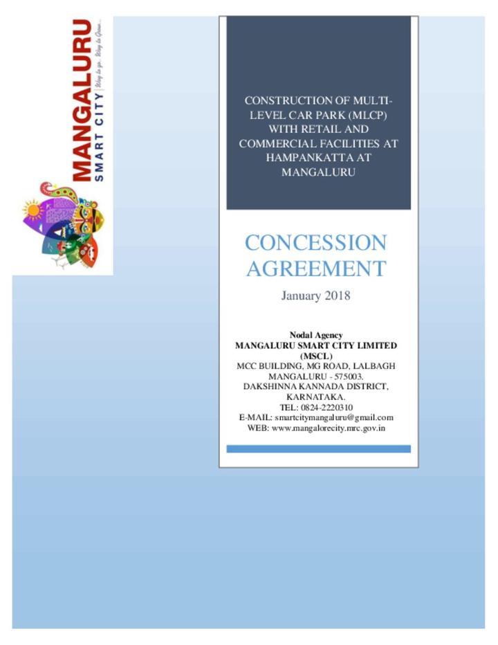 Multi Level Parking- Concession Agreement