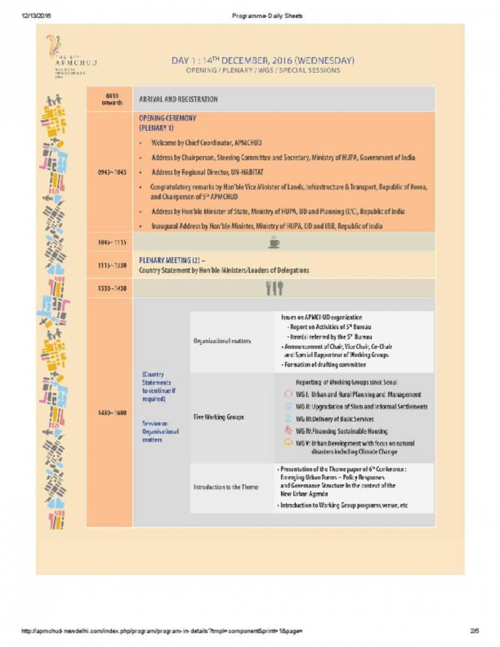 Asia Pacific Ministerial Conference Agenda