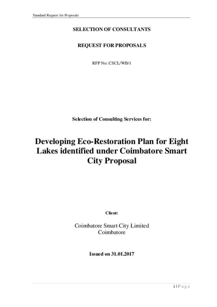 Coimbatore_lake restoration