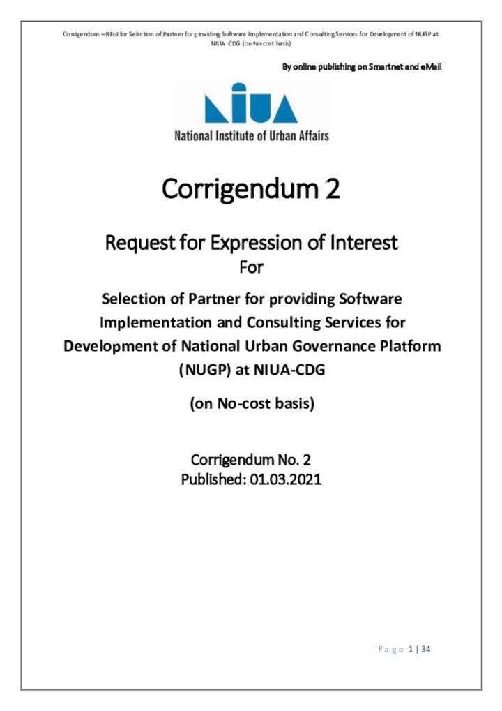Corrigendum - 2