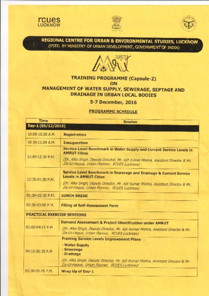 Revised Agenda