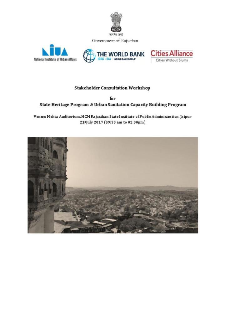 Sanitation workshop Agenda