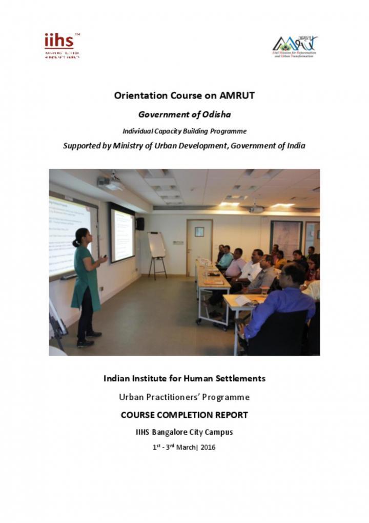 Orientation Course on AMRUT: Government of Odisha