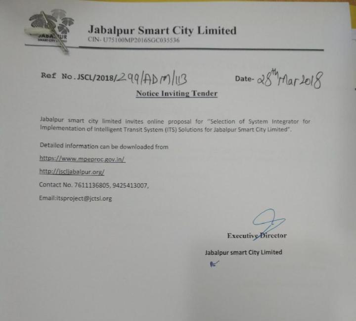 Jabalpur System Integrator Notice