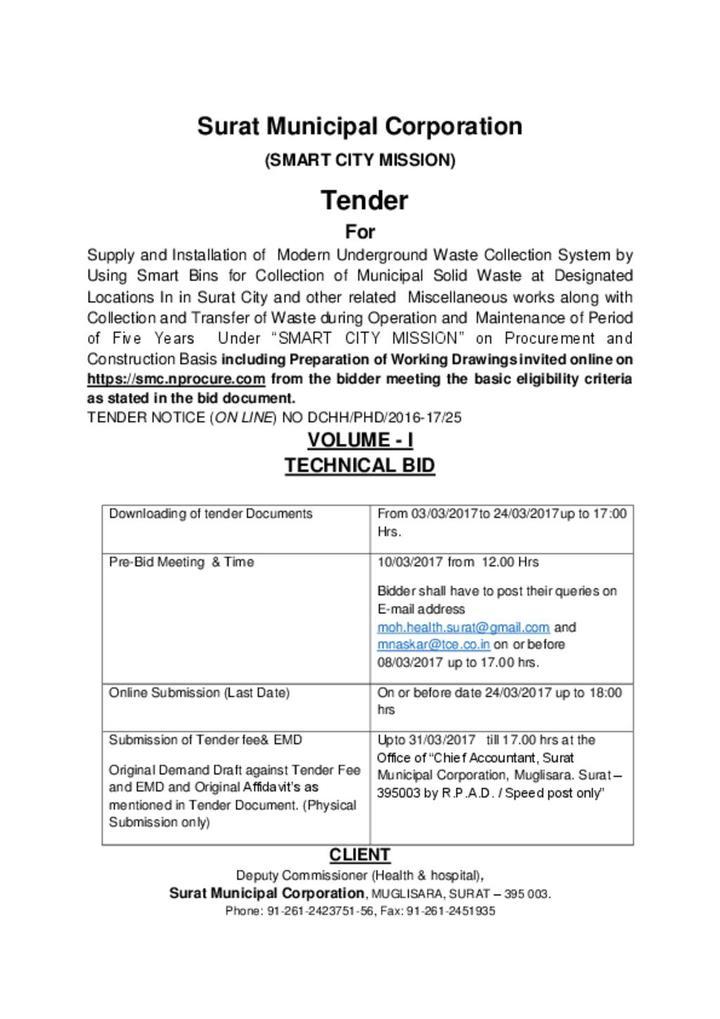 Tender Notice