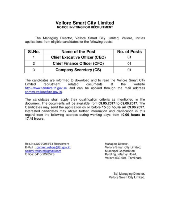 Notice for Recruitment