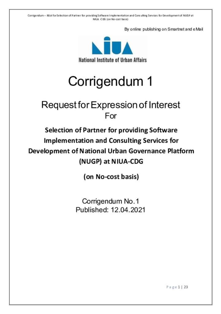 Corrigendum - 1