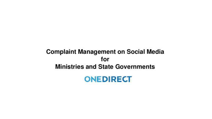 Onedirect social media