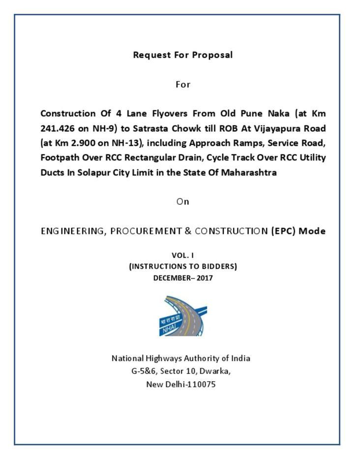 Solapur road infrastructure
