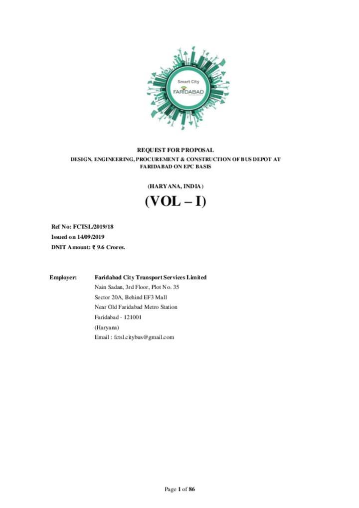 RFP document Volume 1